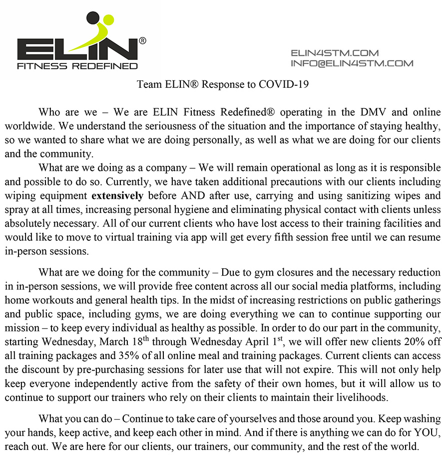 Team ELIN Response